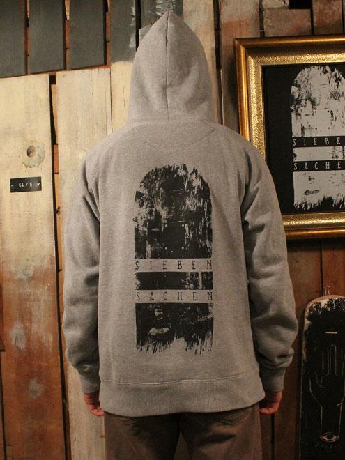 Skateboard Hoodie Grey/Black