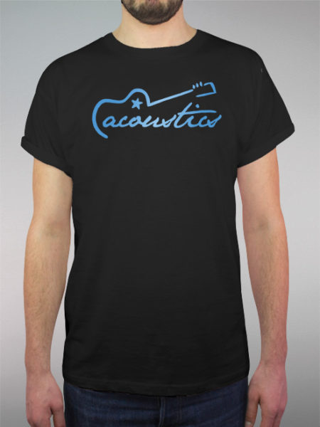 Acoustics Blue   schwarzes Shirt