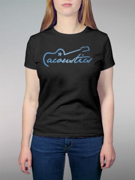 Acoustics Blue | schwarzes Shirt