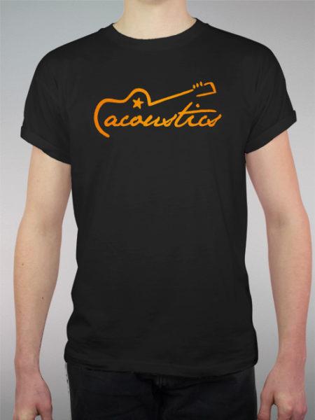 Acoustics Orange   schwarzes Shirt