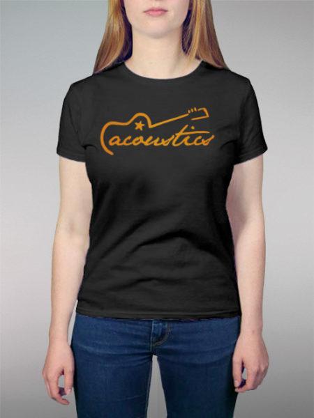 Acoustics Orange | schwarzes Shirt