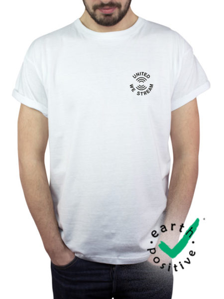 United We Stream - Shirt White - Ecoline