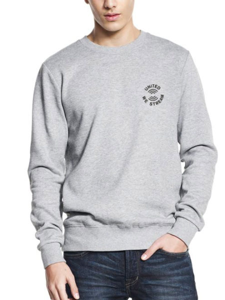 UnitedWeStream - Leipzig - Sweater Grey - UNISEX