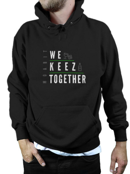 We Keez Together - Hoody Black - UNISEX