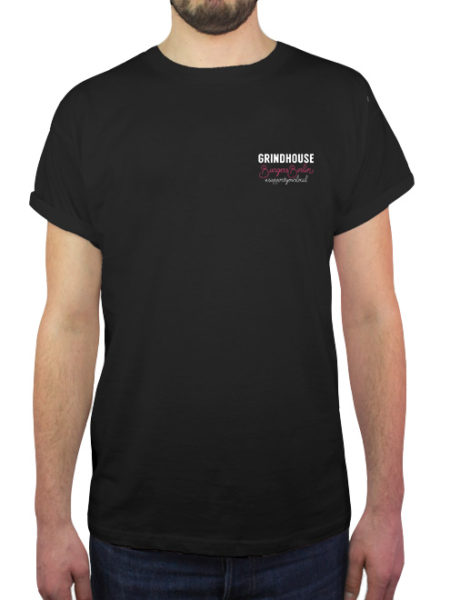 Grindhouse Burger - Shirt Black - Ecoline