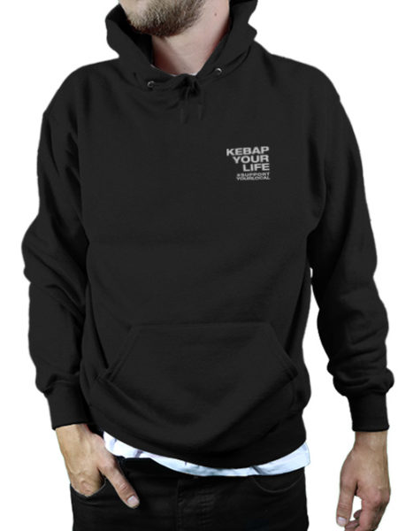 KWA - Kebap Your Life - Hoody Black - UNISEX