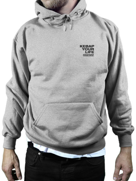 KWA - Kebap Your Life - Hoody Grey - UNISEX
