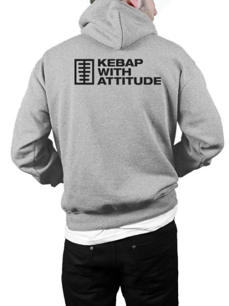 KWA – Kebap Your Life – Hoody Grey – UNISEX