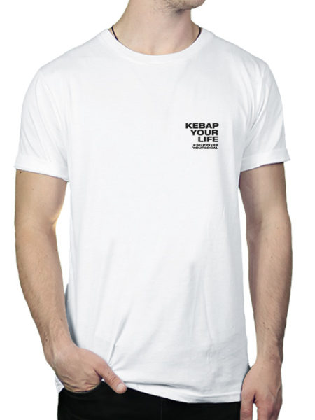 KWA - Kebap Your Life - Shirt White - Ecoline