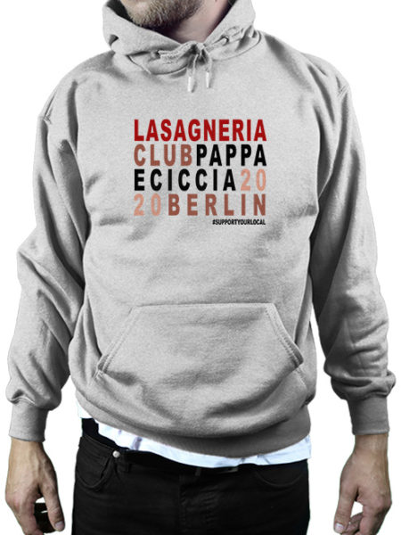 Pappa e Ciccia - Lasagneria Club - Hoody Grey - UNISEX
