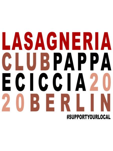 Pappa e Ciccia – Lasagneria Club – Shirt White – Ecoline