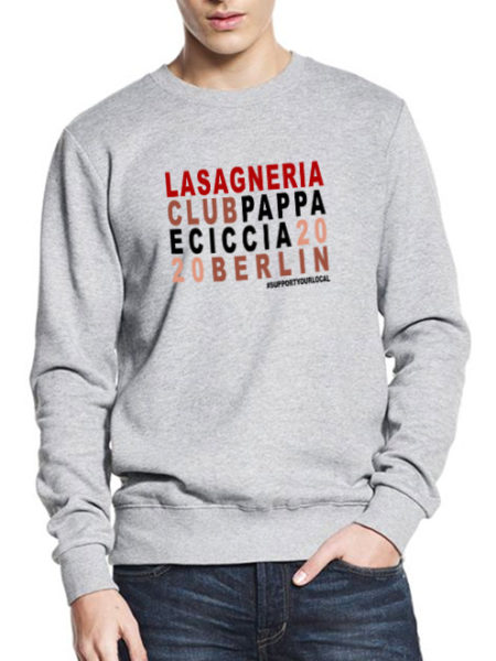 Pappa e Ciccia – Lasagneria Club -Sweater Grey – UNISEX