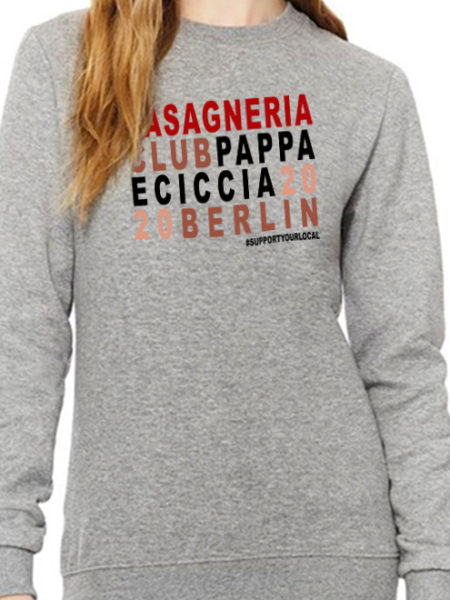 Pappa e Ciccia - Lasagneria Club -Sweater Grey - UNISEX