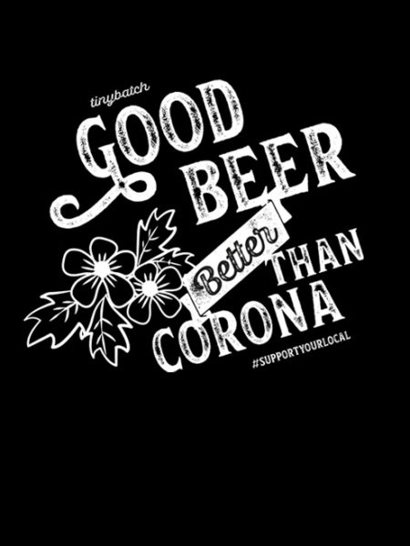 Tiny Batch Co. – Good Beer Better Than Corona Hoody Black – UNISEX