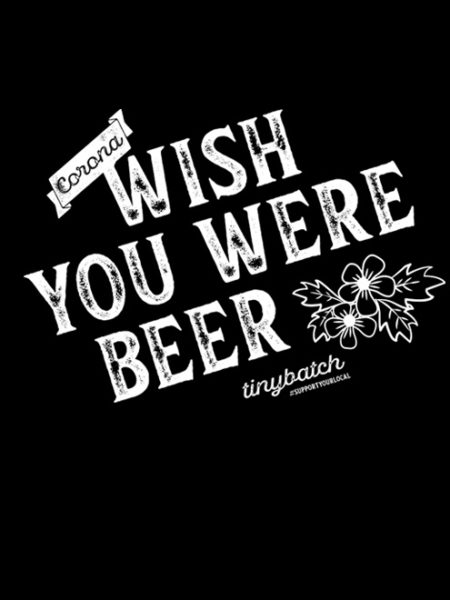 Tiny Batch Co. – Wish You Were Beer Sweater Black – UNISEX