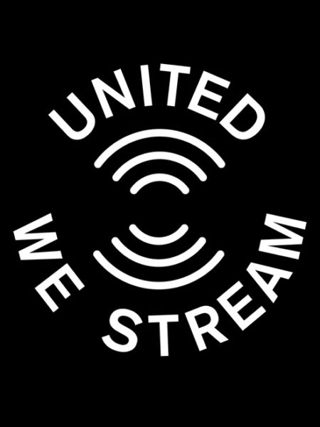 United We Stream – Shirt Black – Ecoline
