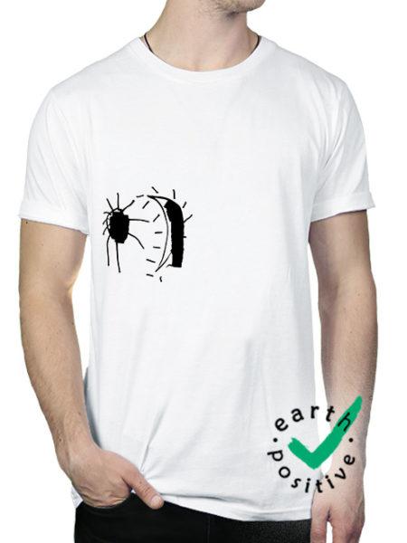 Perlou - Mond Verrückt - Shirt White - Ecoline