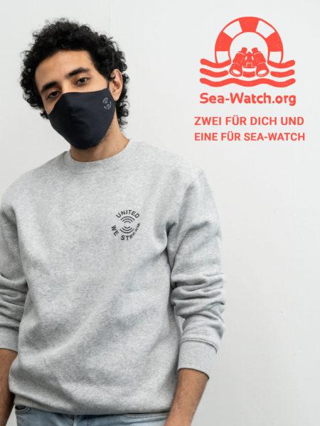 United We Stream - Mund- und Nasenbedeckung (2er Pack)