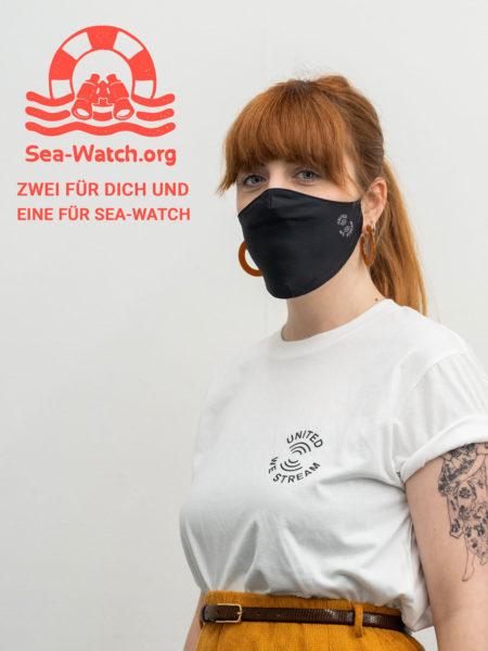 United We Stream – Mund- und Nasenbedeckung (2er Pack)