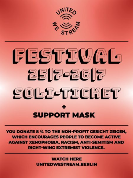 United We Stream Festival - Soli-Ticket + Support Mask