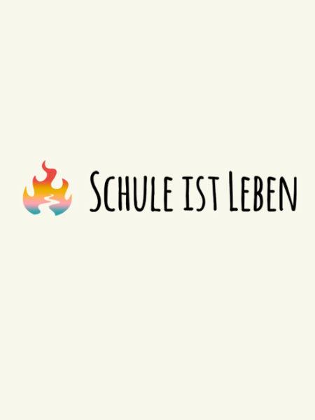 SCHULE IST LEBEN – JUTEBEUTEL – NATURAL – ECOLINE