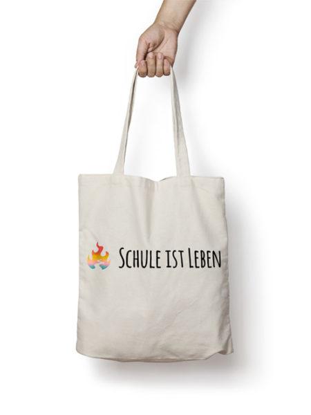 SCHULE IST LEBEN - JUTEBEUTEL - NATURAL - ECOLINE