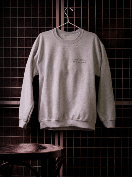United We Stream – Geschlossen für Morgen Sweater Grey – Limited Edition – Vorbestellung