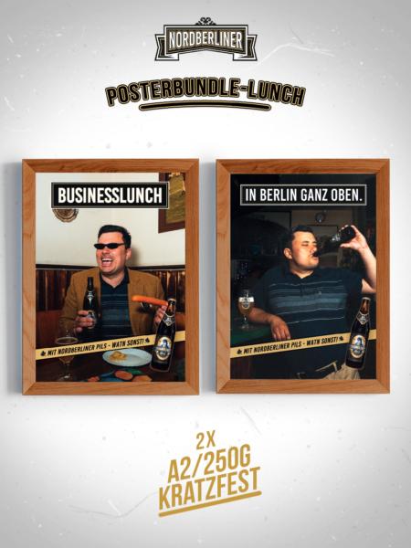 Posterbundle Lunch • 2 x DIN A2 • 250g